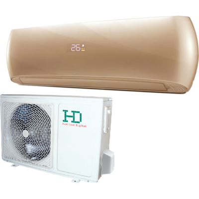 HD Design HDWI-DSGN-120C-GOLD / HDOI-DSGN-120C oldalfali mono split klíma 3.5 kW