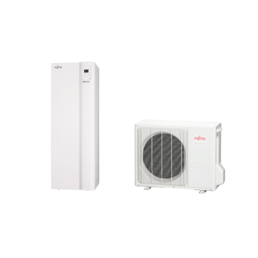 Fujitsu Waterstage SDUO 6 Comfort (WGYA100DG6 / WOYA060LFCA) 1 fázisú osztott levegő-víz hőszivattyú HMV tartállyal 6 kW